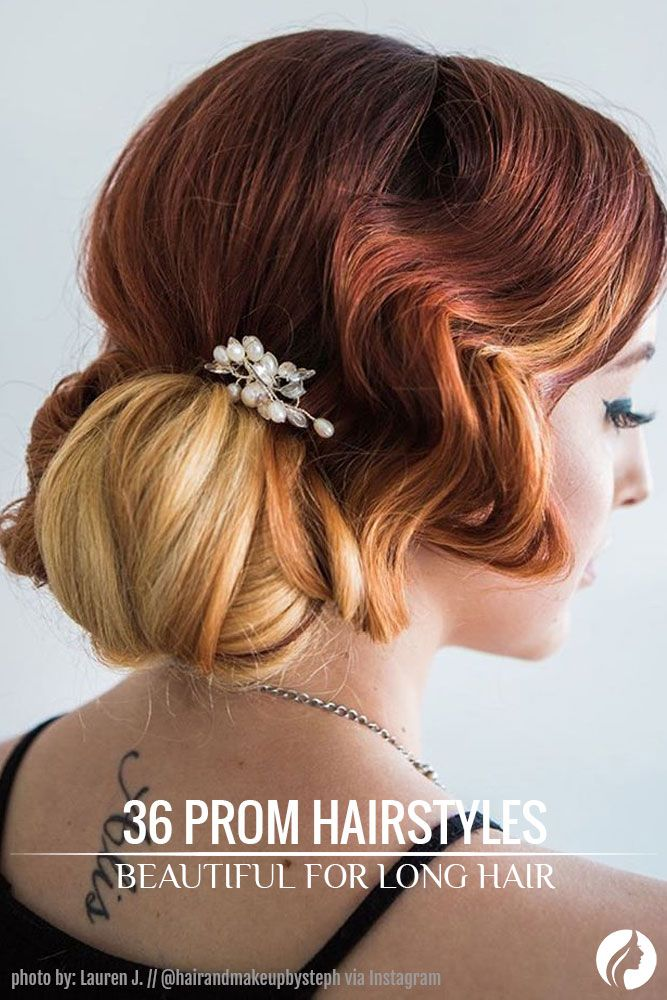 Take a look at our complete hairstyles for long hair for prom and get inspired by these romantic, trendy, and classic hairstyles for your big night. ★ See more: http://glaminati.com/stunning-prom-hairstyles-for-long-hair/?utm_source=Pinterest&utm_medium=Social&utm_campaign=FI-stunning-prom-hairstyles-for-long-hair-31