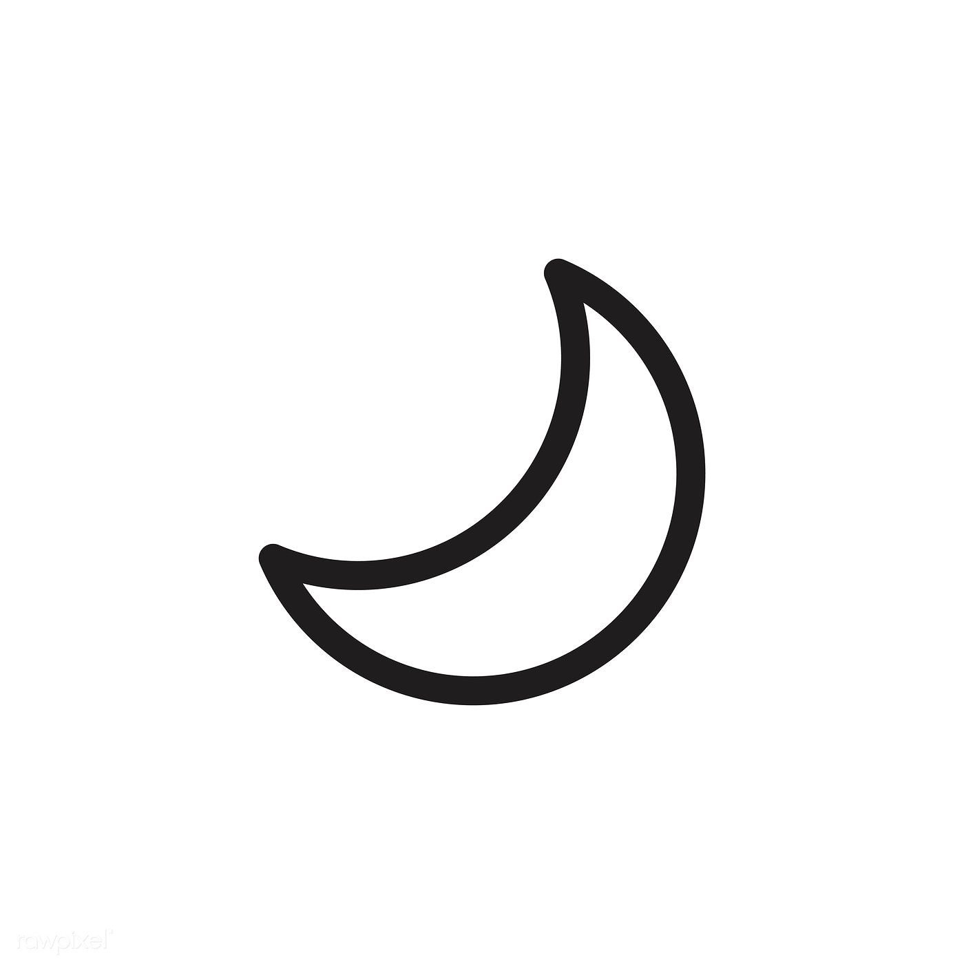 waxing crescent moon icon vector free image by rawpixel com in 2020 moon icon crescent moon art moon outline waxing crescent moon icon vector free