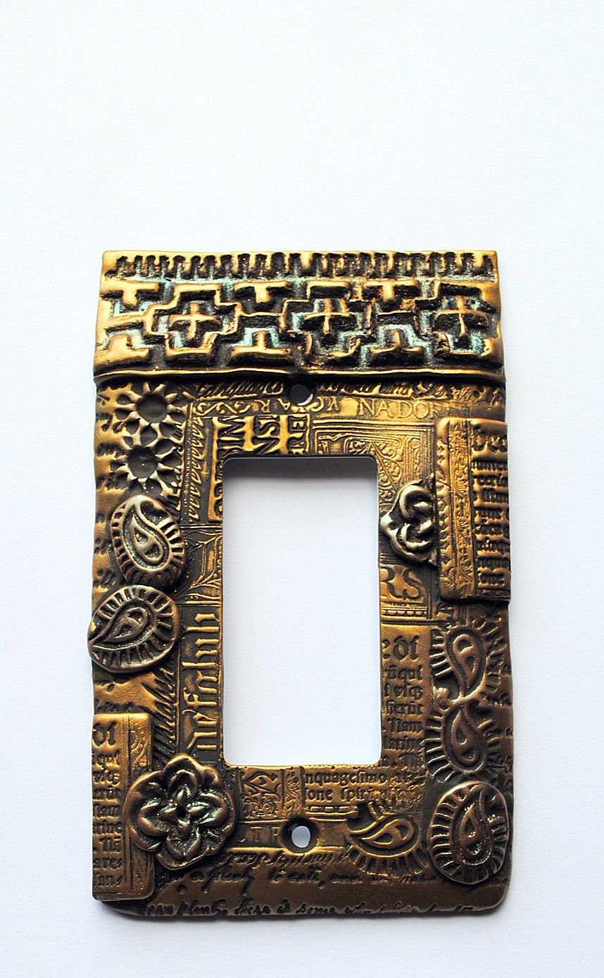 Illuminated Manuscript Motif One Of A Kind Switch Plate Cover Light Switchplates Outlet Covers Plates Wallplates Wall