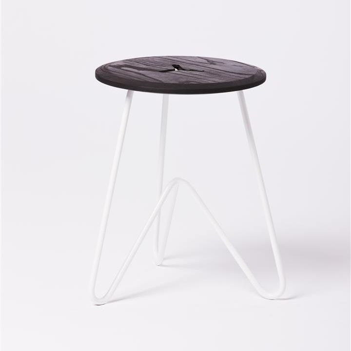 Low Stool: Black on White — Such + Such Shop