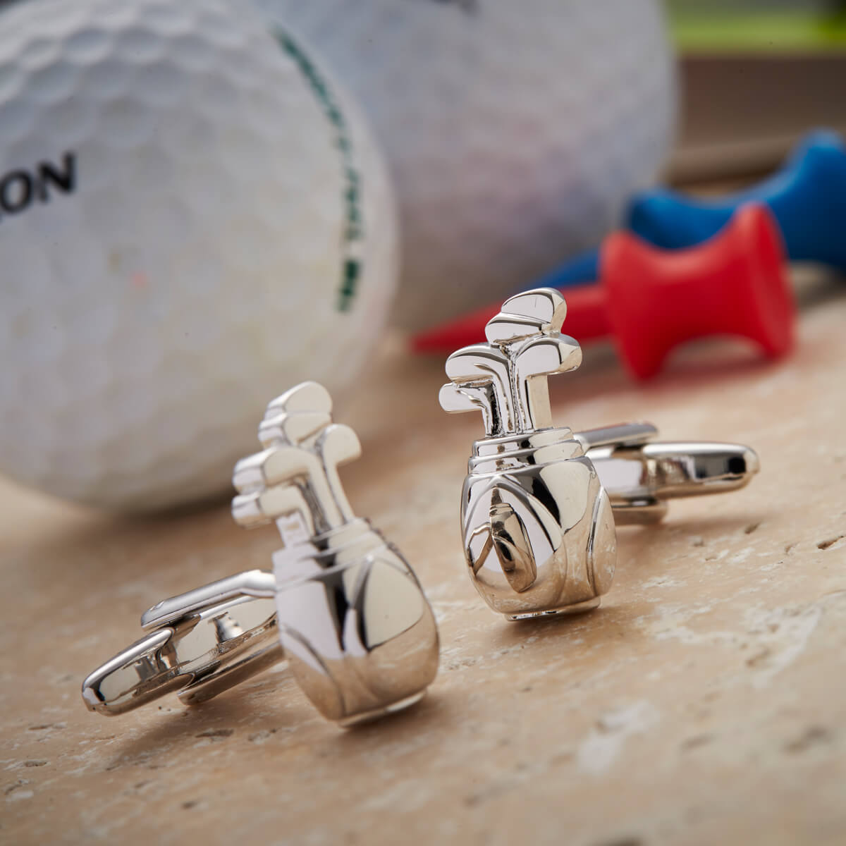 Golf Bag & Clubs Cufflinks Gift Set in 2020 Personalized
