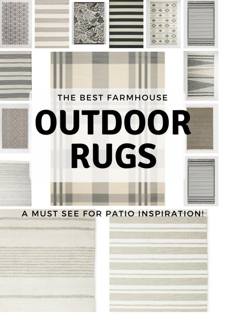 20+ Gorgeous Farmhouse Outdoor Rugs #outdoorrugs