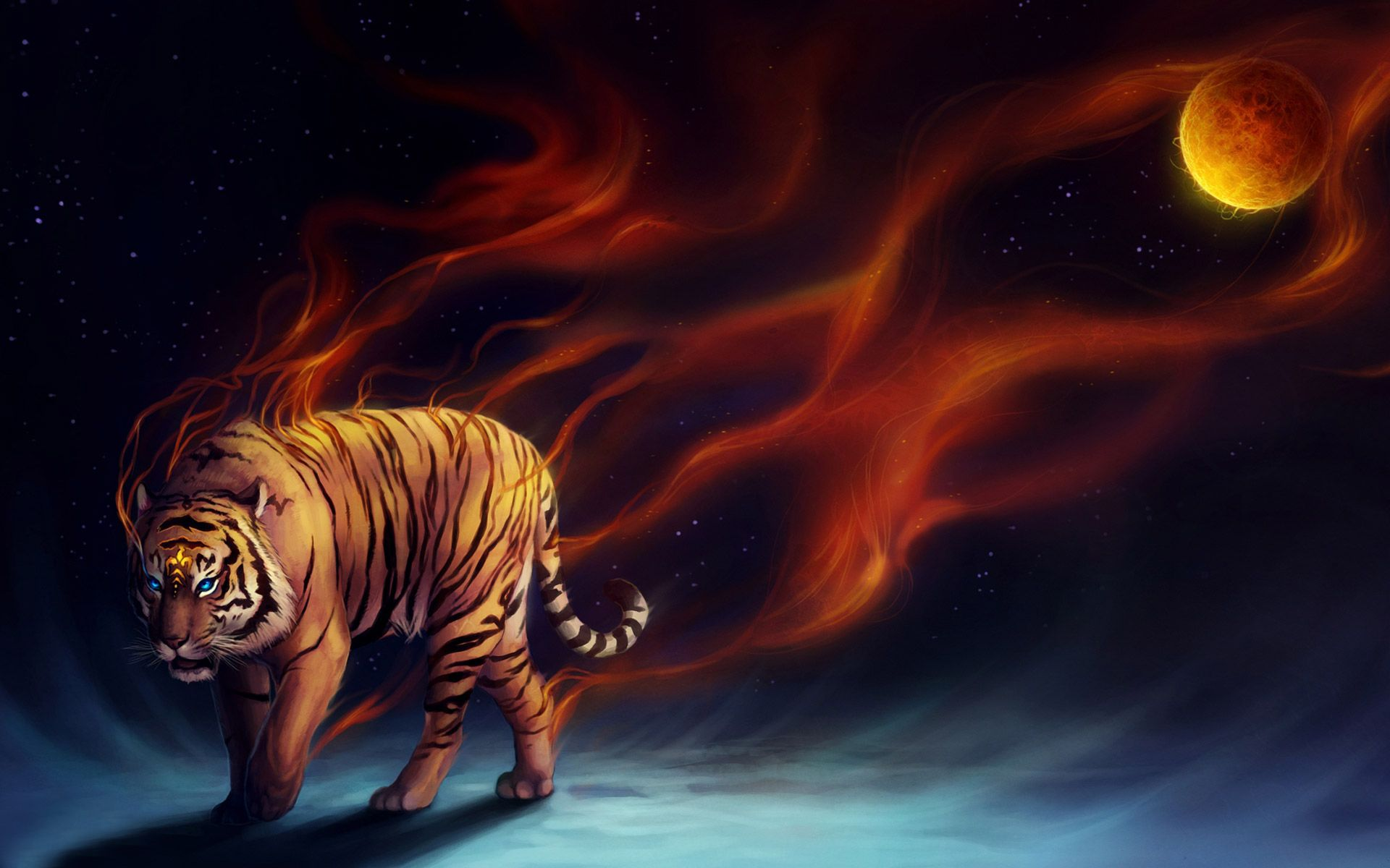 Digital abstract tiger wallpaper pinterest tiger digital abstract tiger wallpaper altavistaventures Image collections