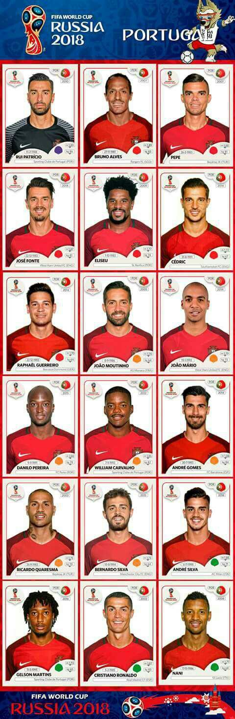 Panini Stickers Portugal National Team Fifa World Cup 2018 With Images World Cup Teams World Cup Fifa World Cup Teams