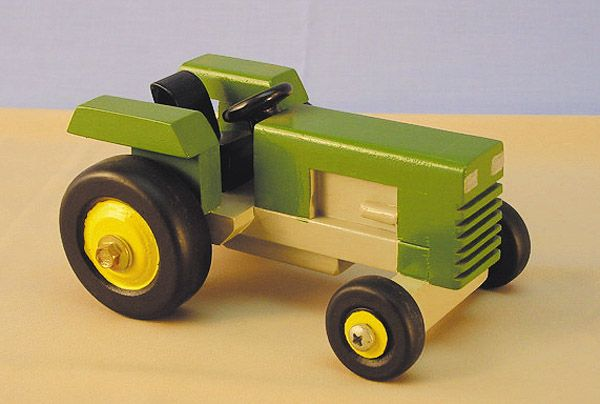Wooden Tractor Plans : Farm tractor woodworking plan wooden toys pinterest