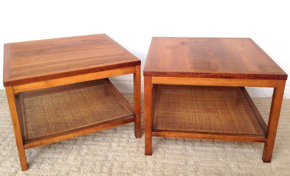 Vintage Lane End Tables Danish Mid Century Modern Wood Square #Lane  #Vintage #Midcenturymodern #Danish #Furniture #Thriftytrendzbyjuls