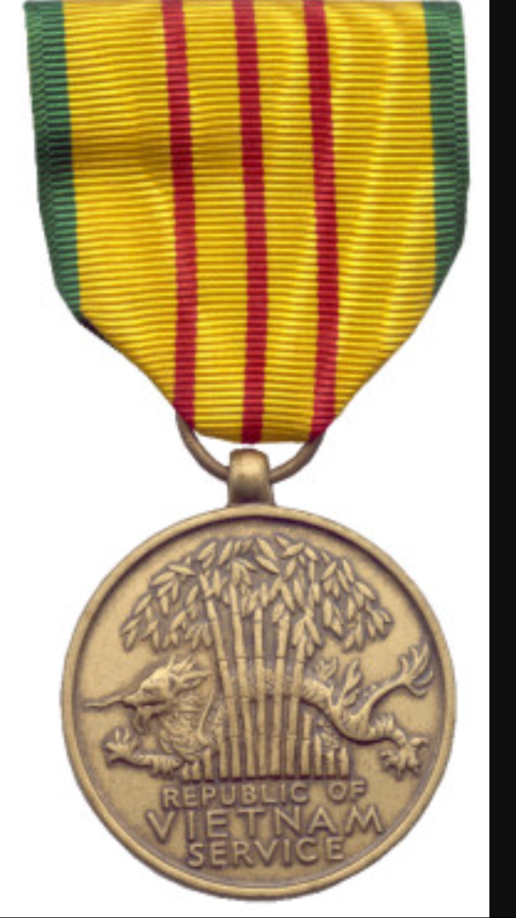 Vietnam Service Medal. Thank you for your dedication and