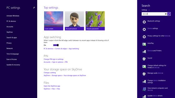 pc settings windows 8 update