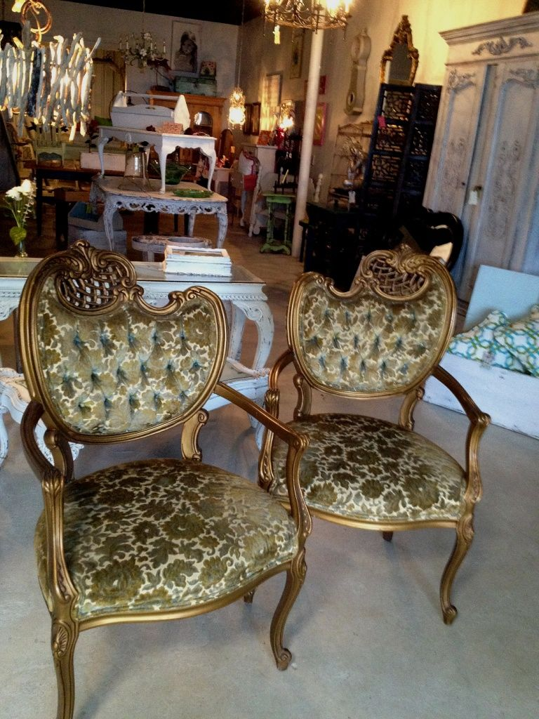 French chairs from this weeks hunt!-----woah!! jealous