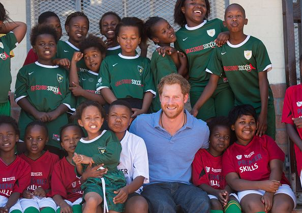 royaltyofftherecord:     Prince Harry poses with... | The British Royal Family