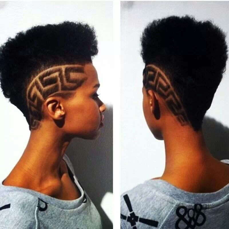 High Top Fade With Awesome Design On Her Sides Bold And Beautiful