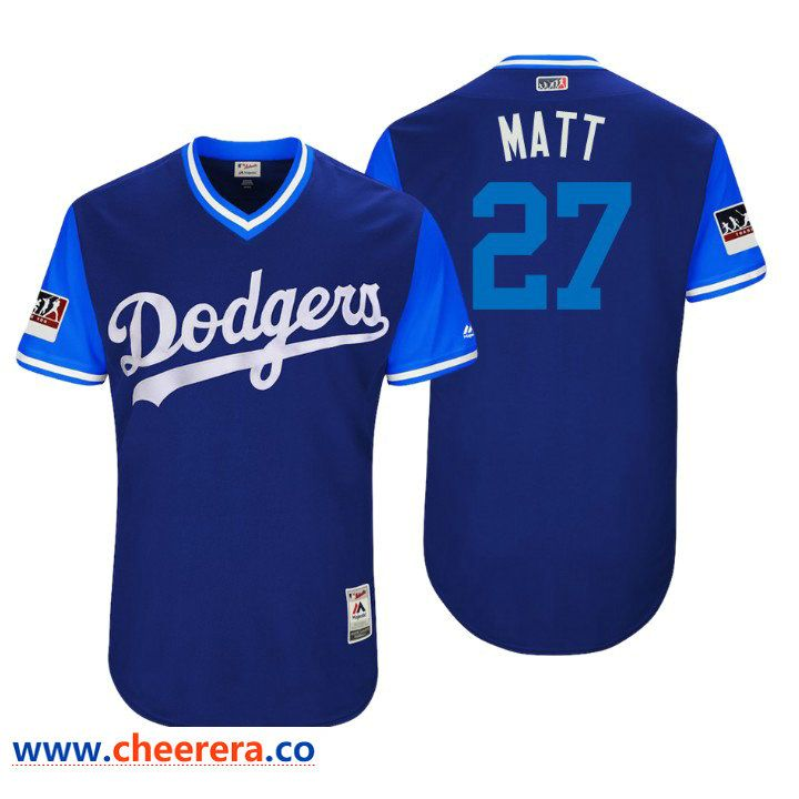Men s Los Angeles Dodgers Authentic Matt Kemp  27 Royal 2018 LLWS Players  Weekend Matt Jersey 2affc965055