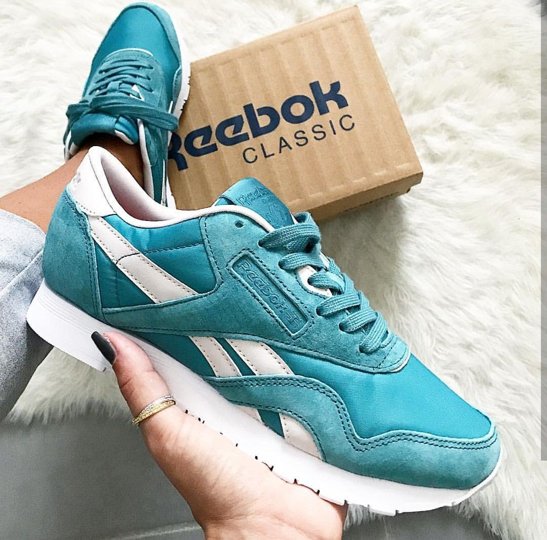Reebok classic in türkis weißturquoise white Foto