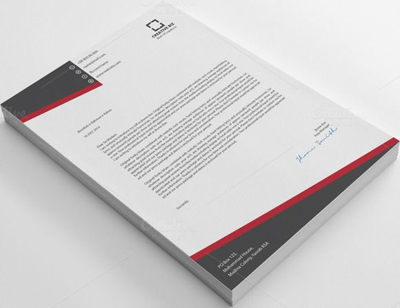 Check out Creative2 Business Letterhead by shujaktk on Creative - business letterhead
