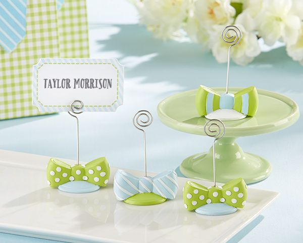 My Little Man Bowtie Place Card Holders (Assorted Set of 6 ...