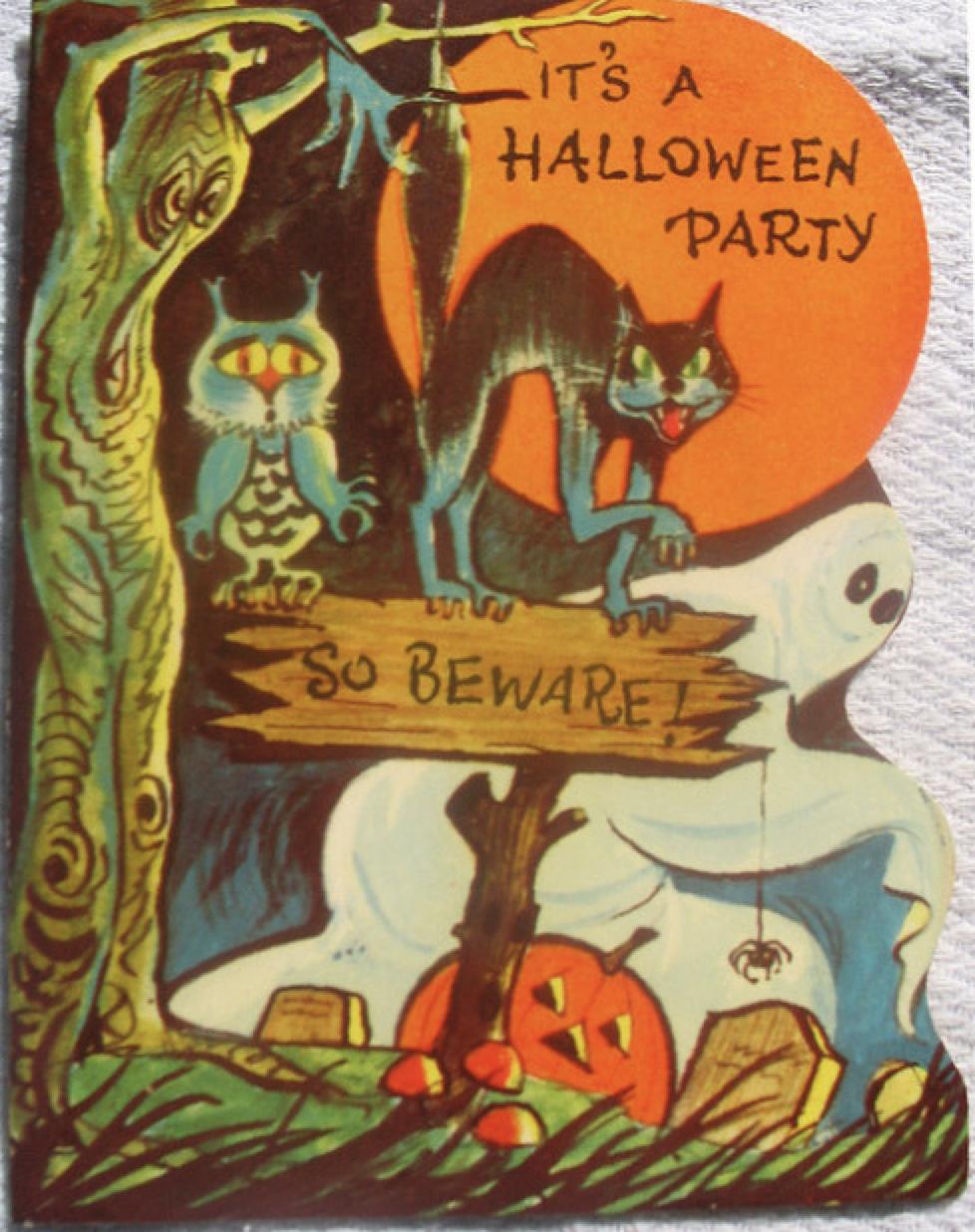 Halloween party invitation | Halloween Toys, Decor Vintage ...