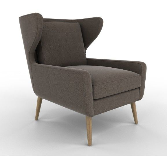 Awe Inspiring Dwell Studio Modern Wingback Chair Chocolate Furniture Gmtry Best Dining Table And Chair Ideas Images Gmtryco