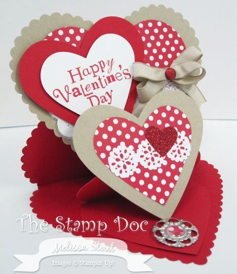 SU! Double easel Valentine card - video tutorial on her blog - valentines day cards