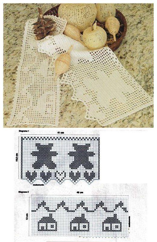 Barrados de crochê. | crochet niños | Pinterest | Bordes de ...