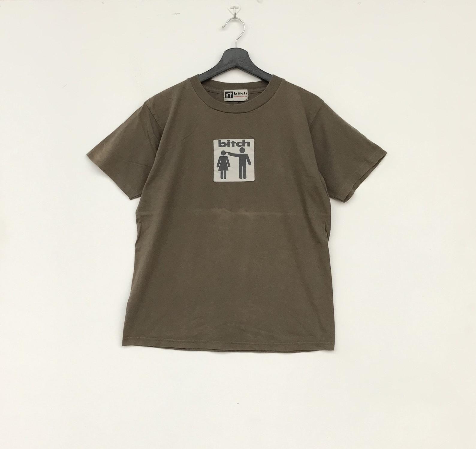 0fe45f6588f8 Rare!! BITCH SKATEBOARDS BigLogo Men Clothing tshirt skateboards ...