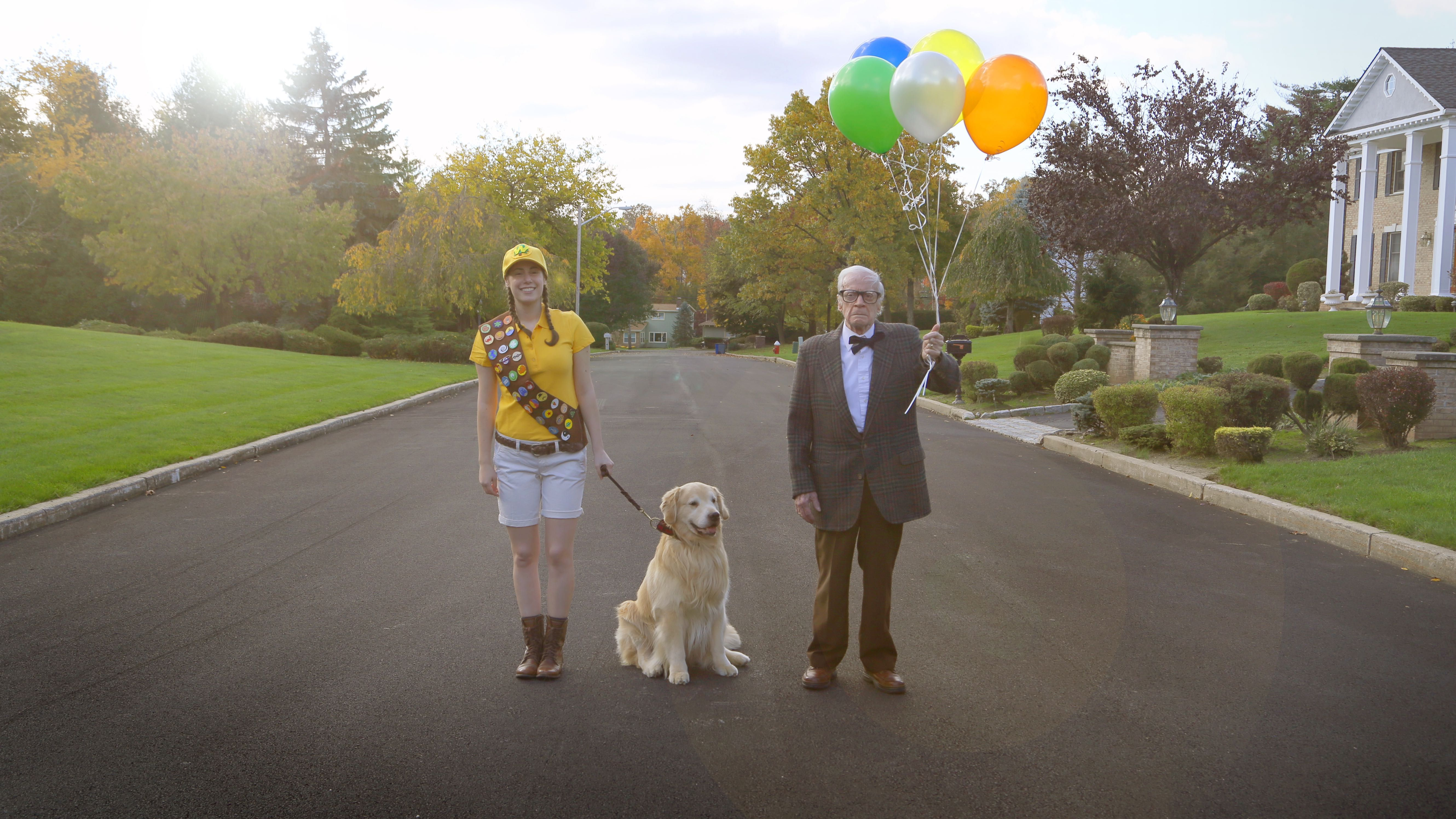 Fun Halloween Diy Costume From The Film Up Russell Carl And Doug