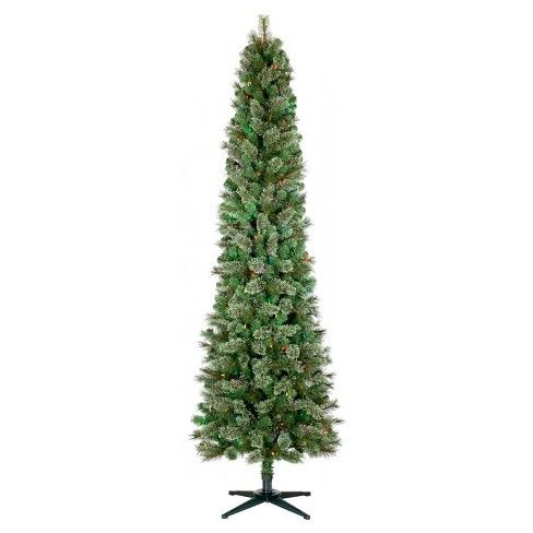 7.5ft Prelit Artificial Christmas Tree Pencil Virginia ...