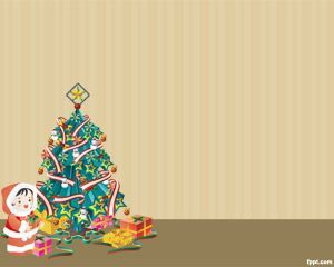 Christmas Tree Image For Powerpoint  Christmas Ppt Templates