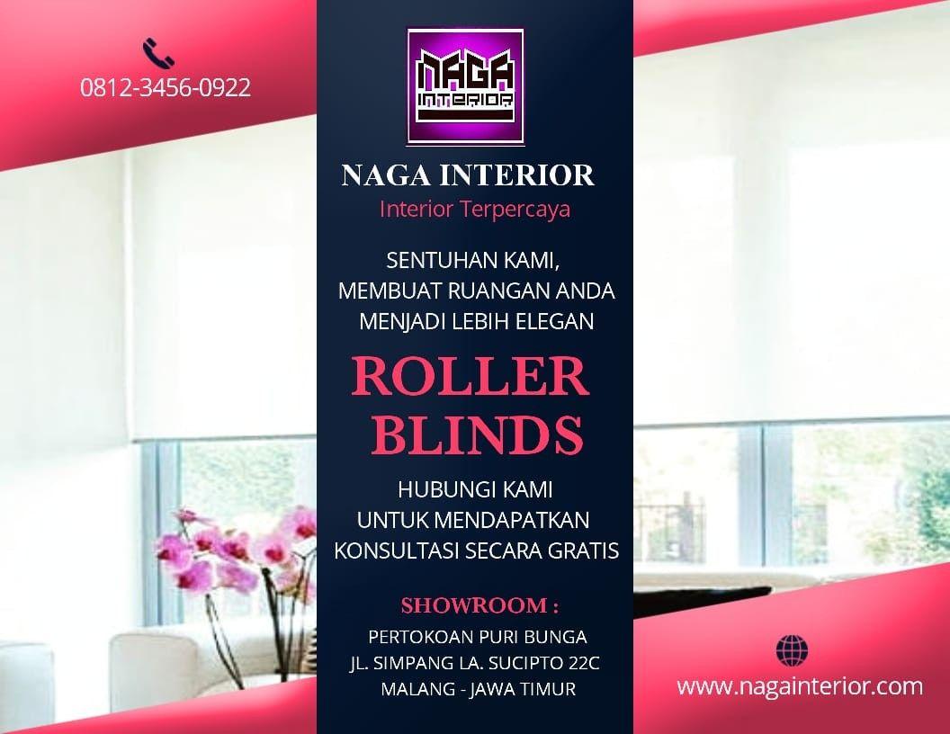 Roller Blinds Dekorasi Jendela Yang Atraktif Dengan Kain Tunggal Yang Menggulung Dengan Rapih Roller Blinds Black Out Dapat Di Tirai Jendela Interior Ruangan