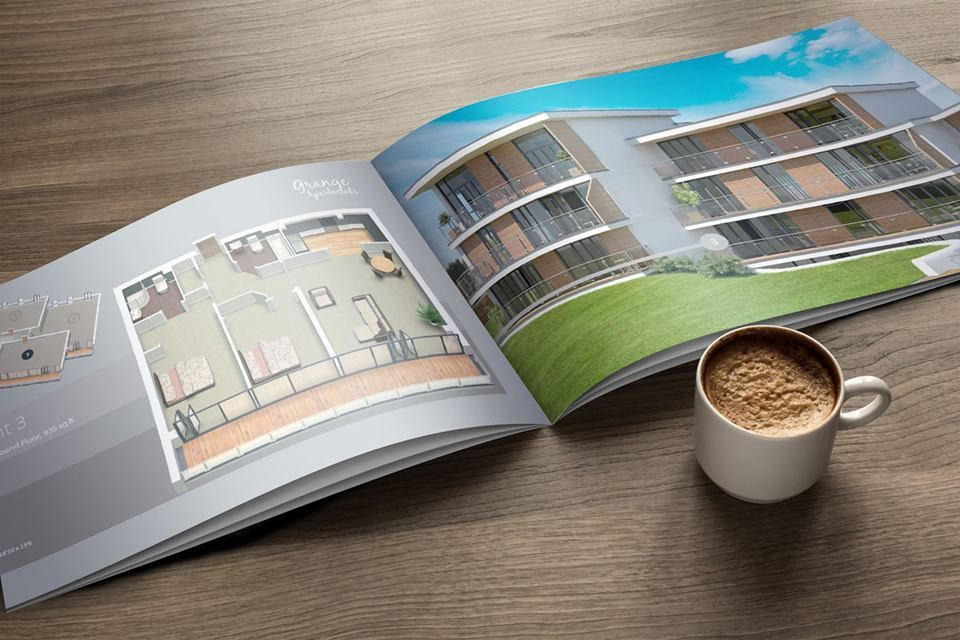 Design of Marketing Brochure for Grange Apartments - a luxurious