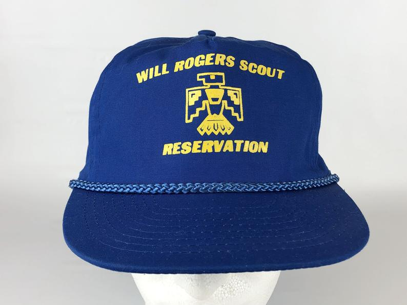 80s 90s Will Rogers Scout Reservation Oklahoma Trucker Hat