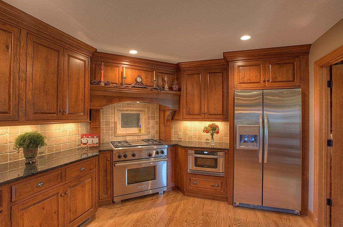 probably not putting range in corner but still like the cabinet style and color kitchen on kitchen cabinets corner id=94762