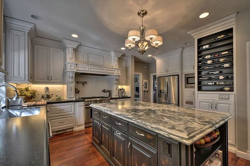 101 U Shape Kitchen Layout Ideas Photos With Images U Shaped Kitchen Kitchen Designs Layout Built In Wine Rack