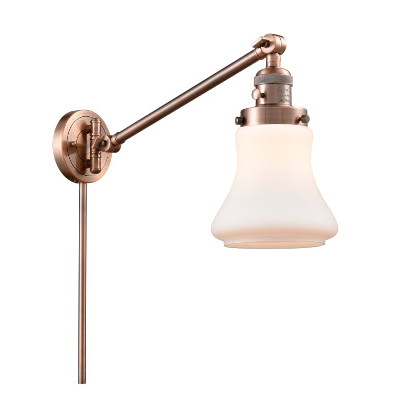 Photo of Innovations Lighting 237 Bellmont Bellmont Single Light 25″ Tall Bathroom Sconce Antique Copper / Matte White Indoor Lighting Bathroom Fixtures