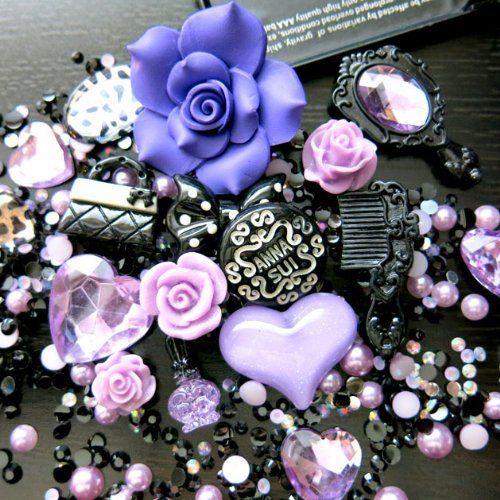BSI - 3D DIY Bling Bling Cell Phone Case Resin Flatback Kawaii Cabochons Decoration Kit / Set ~ Lavender, http://www.amazon.com/dp/B00EJQRX0G/ref=cm_sw_r_pi_awdm_-qFjub0KDZZ6W