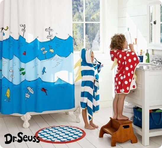 Kids Dr Seuss Bathroom With Wall Mural Bathroom Kids Kids