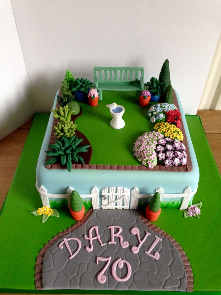Gardening Birthday Cake Sheet Cake
