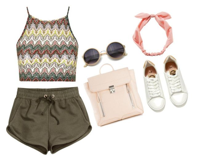 """""""Untitled #1025"""" by hi-its-shannon ❤ liked on Polyvore featuring H&M, Topshop, 3.1 Phillip Lim, RyuRyu and Retrò"""