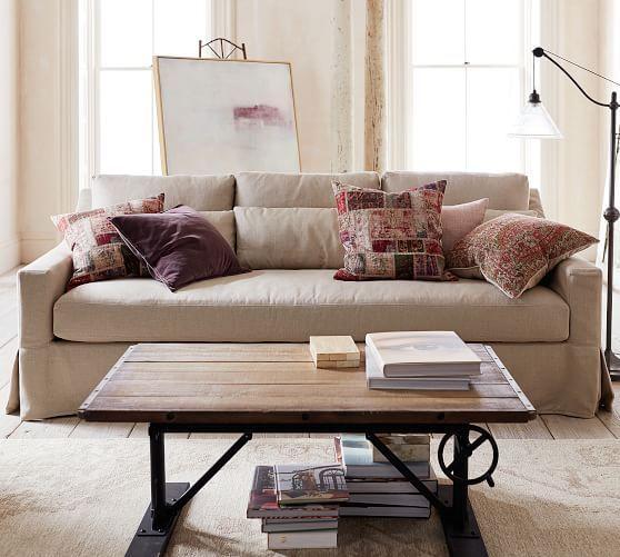 York Slope Arm Deep Seat Slipcovered Sofa Furniture Slipcovers