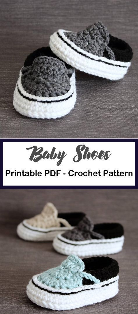 Photo of Make a pair of van style baby shoes. Baby Shoes Crochet Patterns – Baby Gift -…