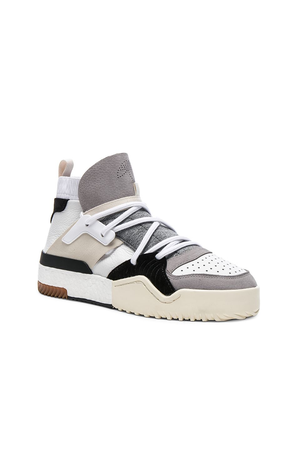 Suede Trimmed Leather High Top Top Top Sneakers, Blanco  Adidas Originals By 36da95