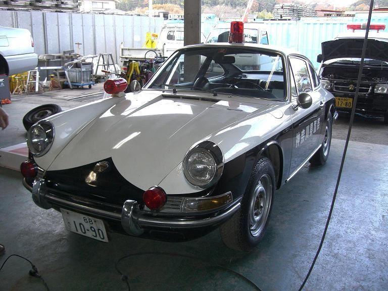 POLICE CAR IN JAPAN PORSCHE 912 1960's Kanagawa-pref ...