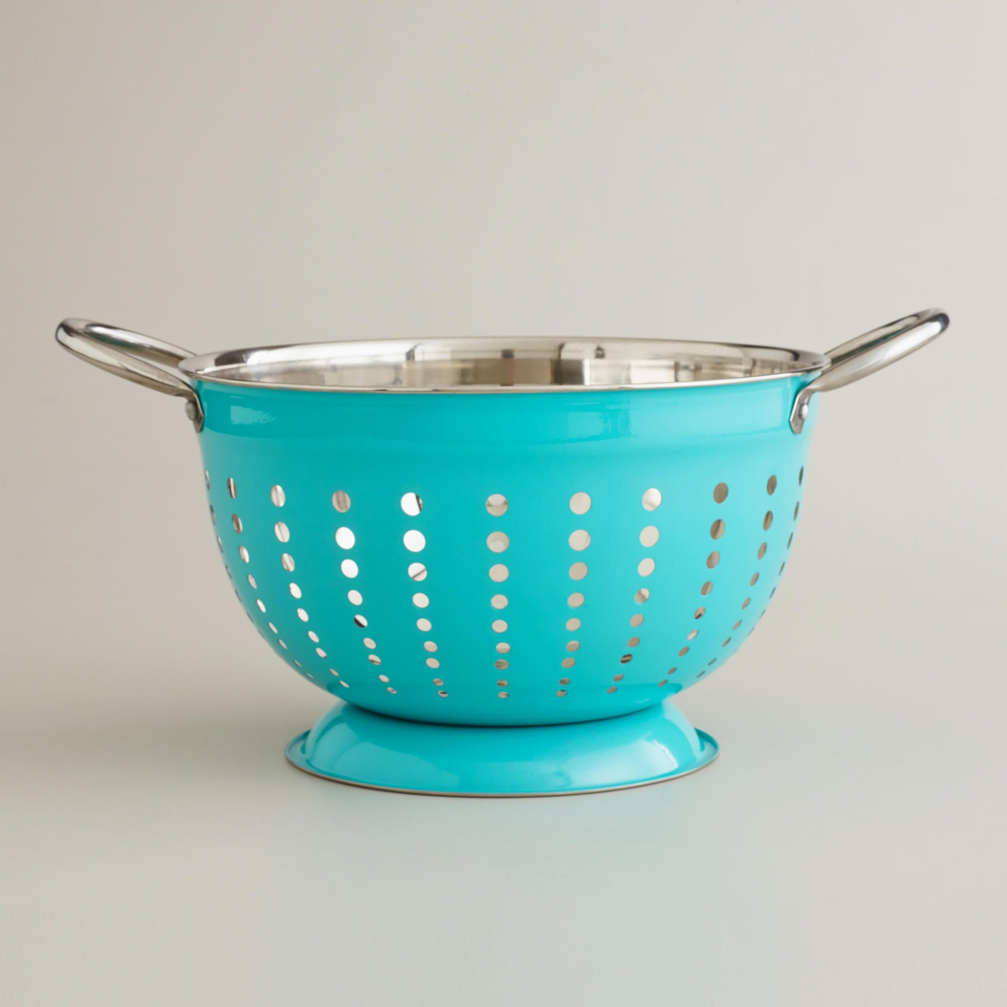 Now this is a turquoise colander! Ordered a different brand a while ...