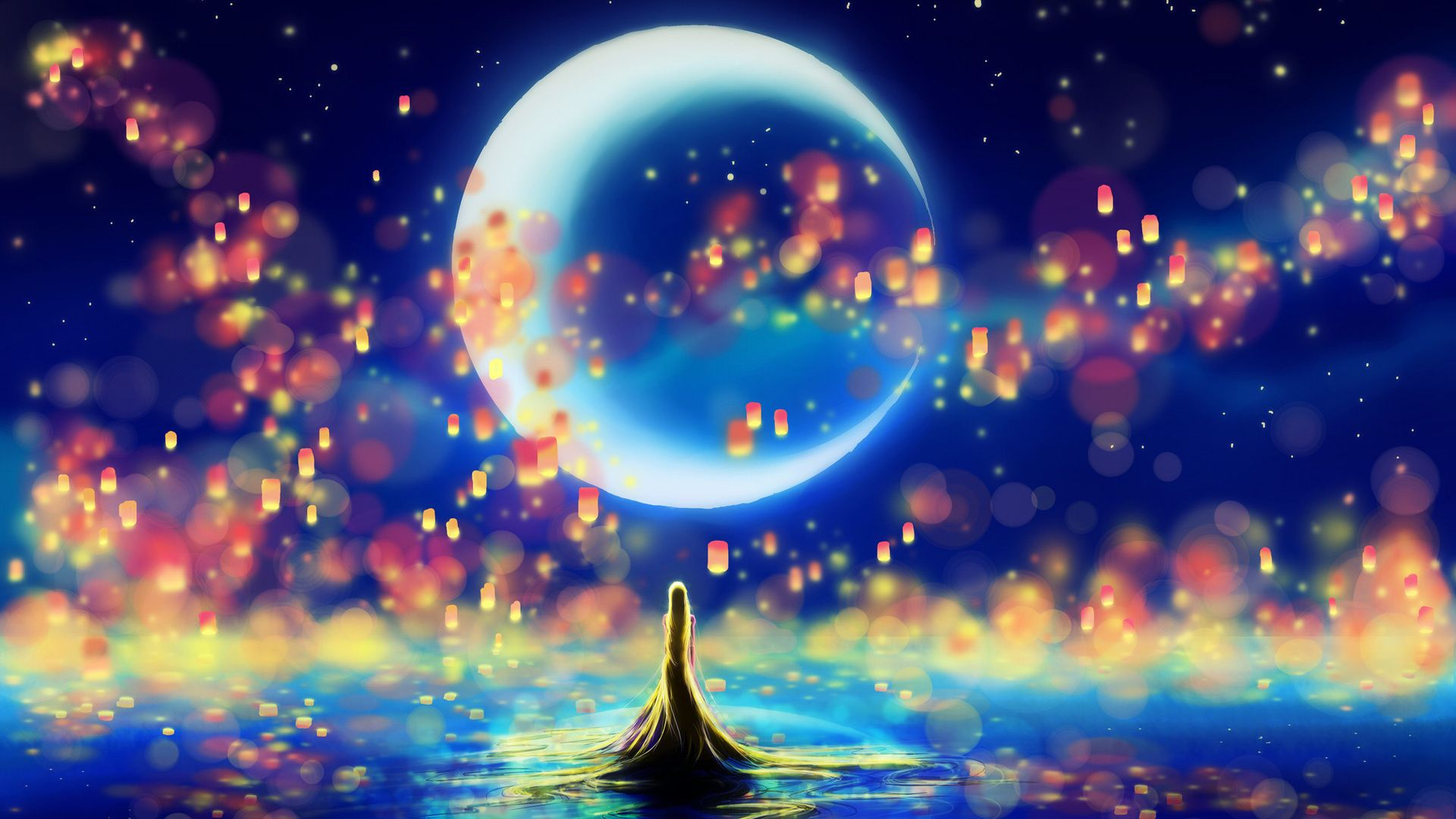 Image result for good laptop backgrounds Moon art