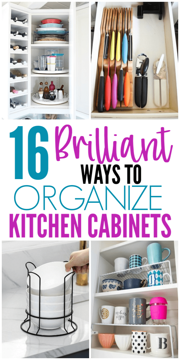 16 Genius Ways To Organize Kitchen Cabinets - Organization Obsessed