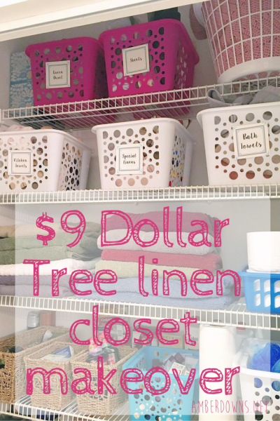9 dollar tree linen closet makeover with free printable organize your linen closet and more. Black Bedroom Furniture Sets. Home Design Ideas