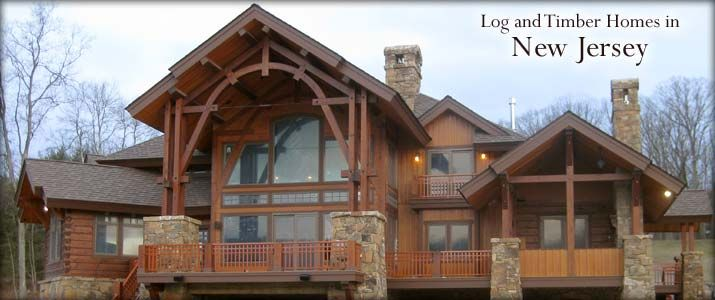 Merveilleux New Jersey Hybrid Log And Timber Home