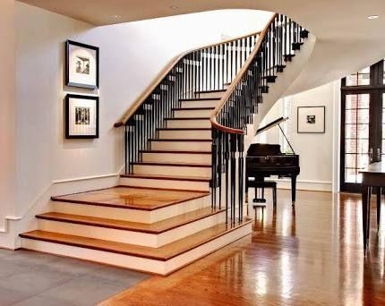 Resultado de imagen para escaleras interiores muebles rusticos