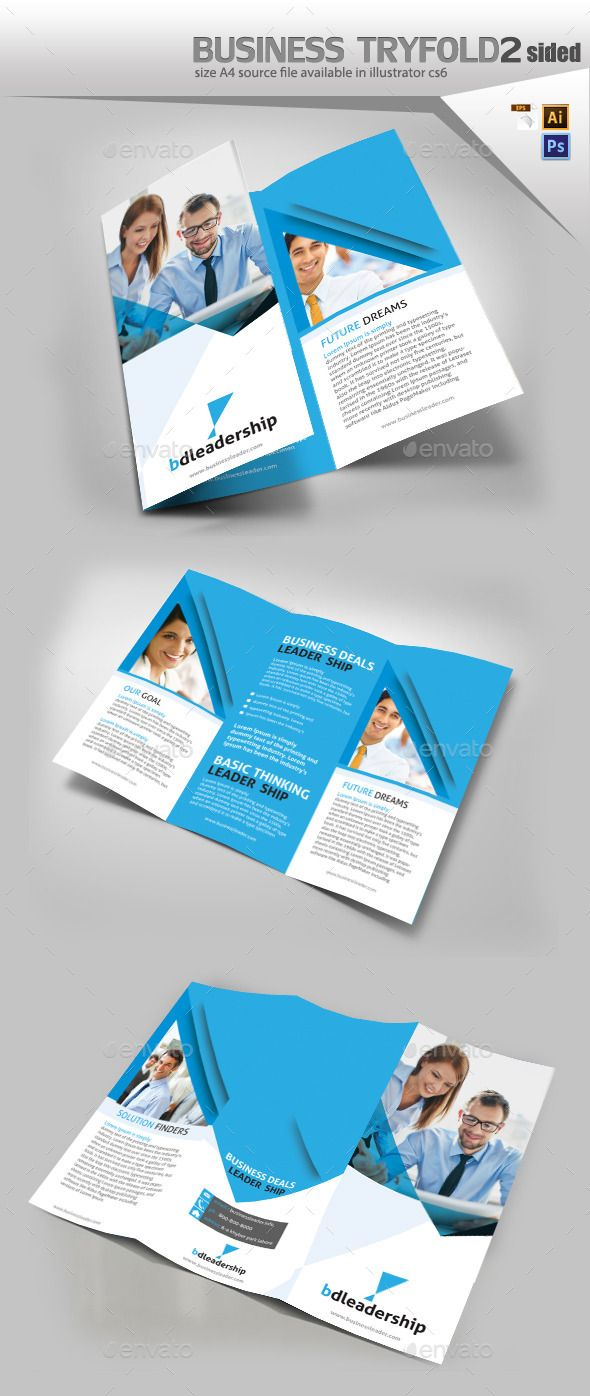 business three fold brochure design fully editable brochure