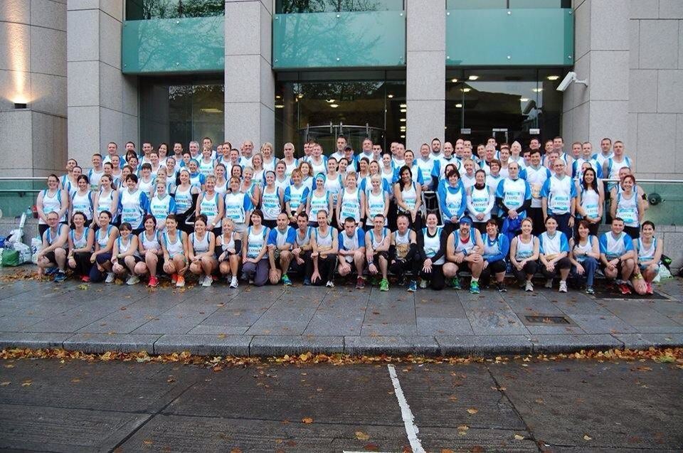 Team Carrie, Dunleer, Ireland. The largest team to take part in the Dublin Marathon 2013. Delighted to have been one of the 123! Roll on Dublin Marathon 2014