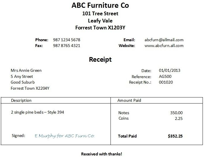 Free Word Receipt Template Invoice template word and Receipt - download rent receipt format